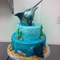 Marlin Fish Head