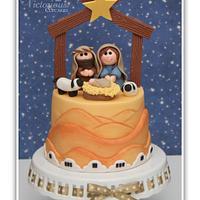 Christmas Nativity Cake