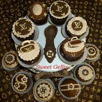 LV Vintage Cupcakes