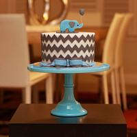 Little chevron elephant cake