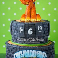 Skylander Hotdog birthday cake