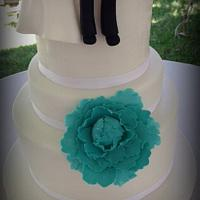 First tiime Bride and Groom cake toppers!!!! by DeliciasGloria