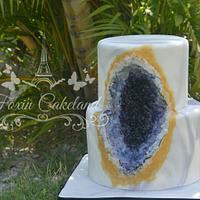 Geode Fondant Cake