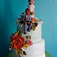 Lover's wedding cake