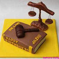 Lawyer themed cake