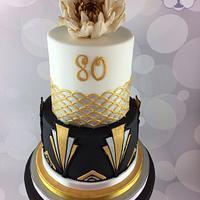 Art Decco Birthday Cake