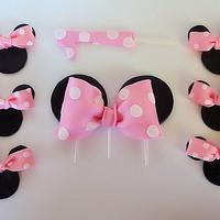 Minnie Mouse Ears/bows Cake topper