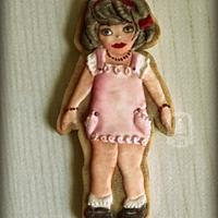 Vintage doll cookie