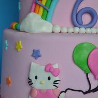 Hello Kitty Rainbow Cake by Jessica