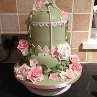 My English garden bird cage cake <3