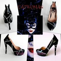 Catwoman: Comic book themed shoe collection for Cake Masters fashion issue 21, June 2014