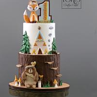 Woodland First Birthday