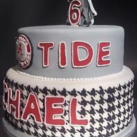 Alabama Crimson Tide Birthday cake by Mimi's Sweet Shoppe Amanda Burgess