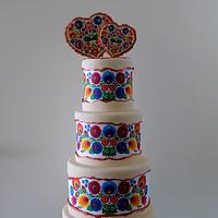 Polish folklore wedding cake