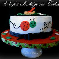 A Beautiful Lady Bug Shower Cake