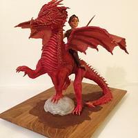 Brimstone the Dragon & Sixpence the Elf