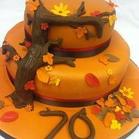 Autumn Leaf Cake