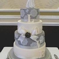 A wedding cake with a twist