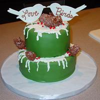 Wintery Rustic Wedding Cake