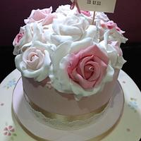 Vintage cake with roses