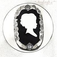 Victorian brooch cake