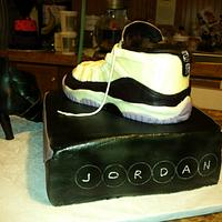 Jordan & High Heel Shoe Cake by TastyMemoriesCakes