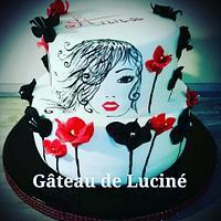 Poetic flowery cake