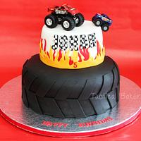 Monster Truck Tire Cake