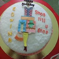 Birthday Shopping cake by JudeCreations