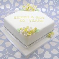 Diamond wedding anniversary cake