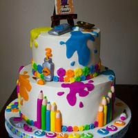 Art Themed Cake