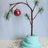 Charlie Brown Christmas Tree Cake