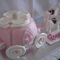 Princess carriage and horses