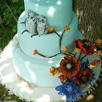 Twit Twoo Wedding Cake