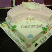 Christening cake by Beverley Childs