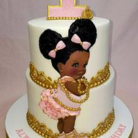 African American Baby Cake