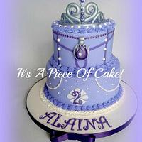 Sofia the First Buttercream w/Fondant Accents