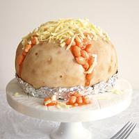 Jacket Potato Cake by Laura Loukaides