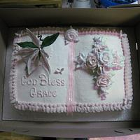 Baptism Book Cake