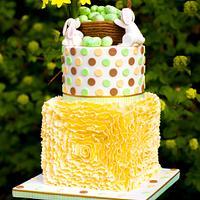 Ruffles Easter cake