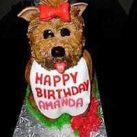 Dog 3D cake