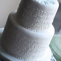 Dedication Cake