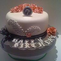 Van Cleef and Arpels Butterfly Symphony inspired cake by DeliciousCreations