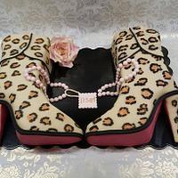 Leopard skin boots