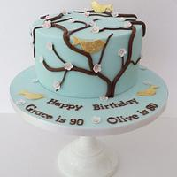 Birds and Blossom by Melissa Woodland Cakes