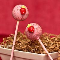 Strawberry Banana Cake Pops by Janine
