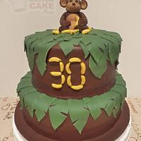 30th Birthday Monkey Cake!