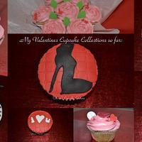 valentine cupcakes by glenda