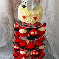 Minnie & Mickey Mouse Cupcake Tower