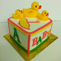 Block Cake with Ducks